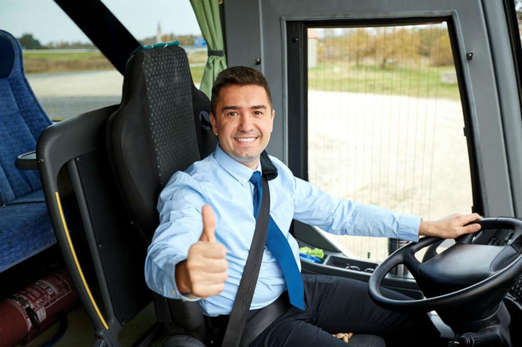 довольный водитель