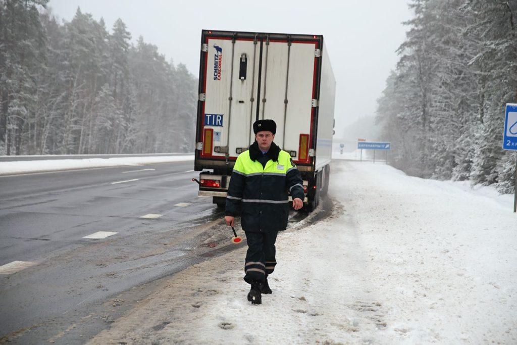 ГАИ Белоруссии проверяет тахографы